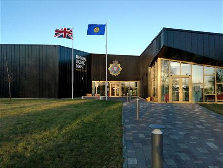 Outside the Royal Logistic Corps (RLC) Museum