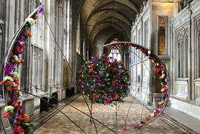 Exhibit at Resonance a Festival of Flowers at Winchester Cathedral