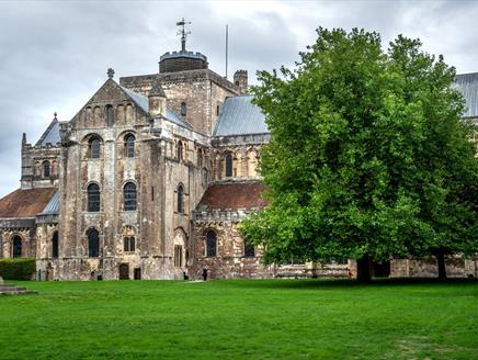 Romsey Abbey, part of the Romsey Heritage Trail Walk