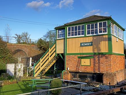 Romsey signal box.