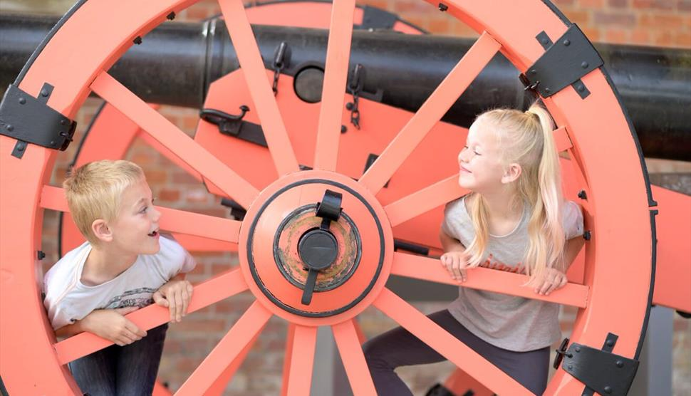 Children playing at Royal Armouries - Fort Nelson
