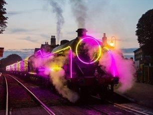 Steam Illuminations at Mid Hants Railway 'Watercress Line'