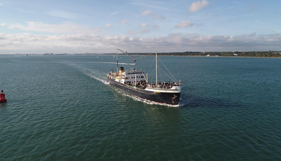 Steamship Shieldhall Cowes Week sailing to the Solent