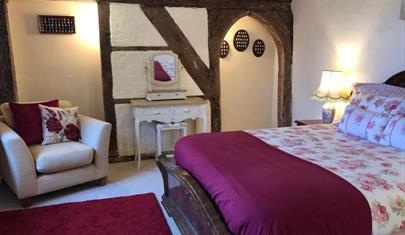 Bedroom at Michelmersh Manor Farm