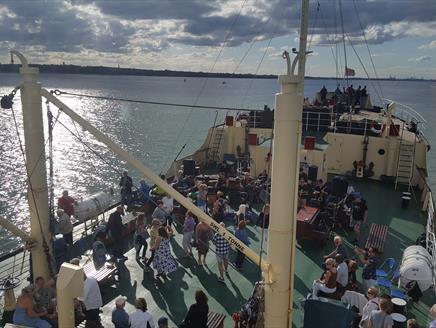 Steamship Shieldhall Music cruise with tribute band RU40