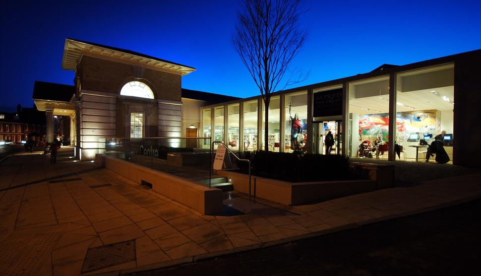 Discovery Centre at night