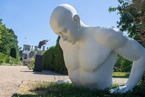 White Sculpture at Beaulieu, National Motor Musuem