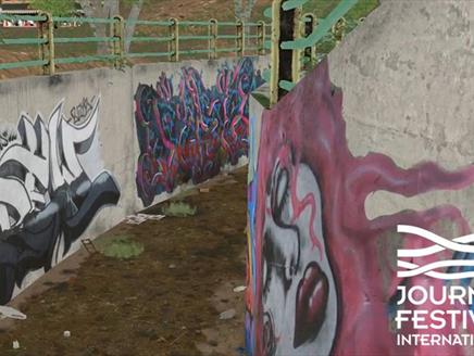 Image of a tunnel in Iran, the subject of Graffiti Art & Protest