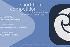 Making Waves International Film Festival logo and program