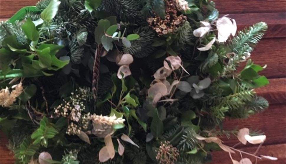 Christmas Wreath Workshop at West End Flower Farm