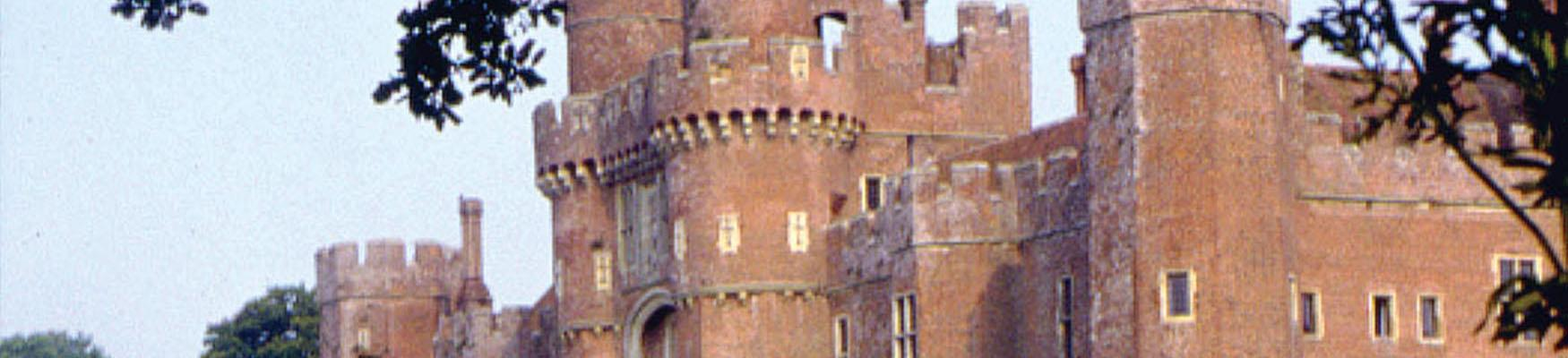 Close up of Herstmonceux castle turrets