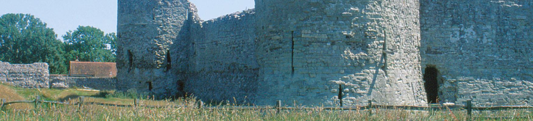 Pevensey Castle from outside