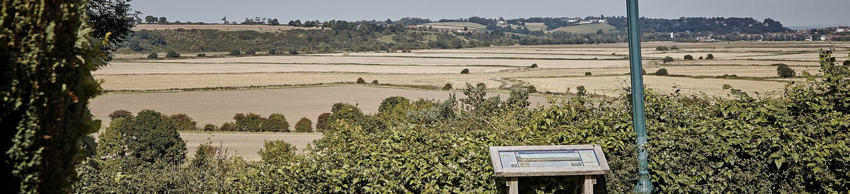 View of the hills and fields in Winchelsea