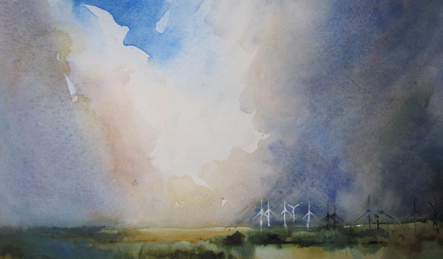 Robert Blythe Water colour - East Sussex