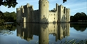Bodiam Castle viewed diagonally across the moat, East Sussex. ©National Trust Images John Millar