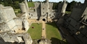 The inner courtyard of Bodiam Castle viewed from above, East Sussex ©National Trust Images John Millar