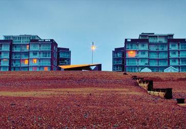Bexhill beach pictured on Keane's Strangeland album