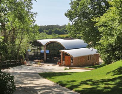 The new building at Sedlescombe Organic Vineyard