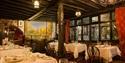 Dining room at The Mermaid Inn, Rye