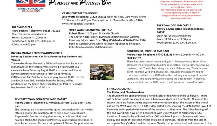 Armed Force day event poster