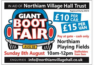 Northiam Giant Boot Sale poster