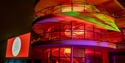 Christmas lights at the De La Warr Pavilion in Bexhill, East Sussex