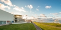 De La Warr Pavilion exterior shot by the sunny coast in Bexhill East Sussex