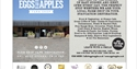 a poster for Eggs to Apples farm shop, with photo of shop entrance.