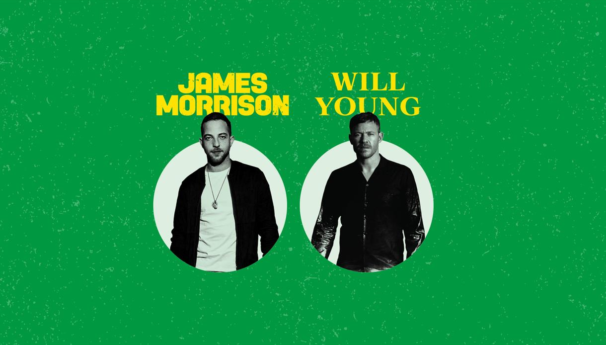 James Morrison and Will Young are to perform at Forest Live in Bedgebury