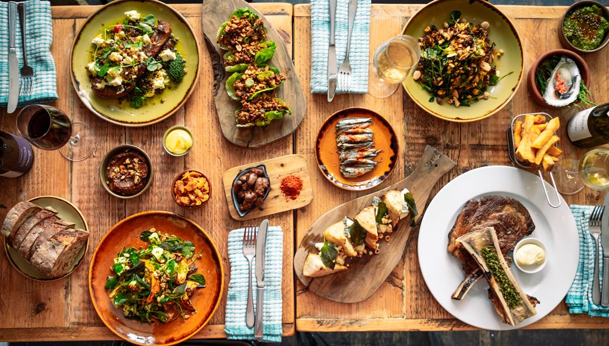 A selection of dishes at Farmyard, a restaurant in St Leonards, East Sussex