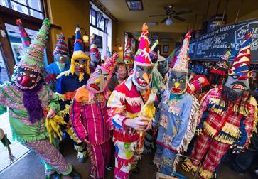 Mardi Gras troupe