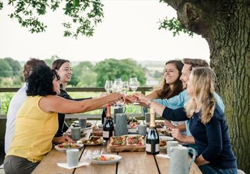 Lunch at Gusbourne Estate, Appledore, Kent.