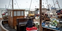 Hastings International Piano Competition - piano on fishing boat
