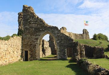 View of Hastings Castle 1066