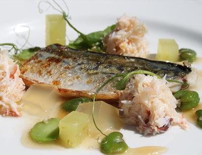 Elegant seafood dish