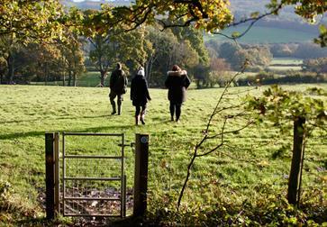 Boxing Day walk at Bateman's in Burwash, East Sussex