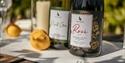 A selection of wines at Oastbrook Estate Vineyard, Robertsbridge, East Sussex