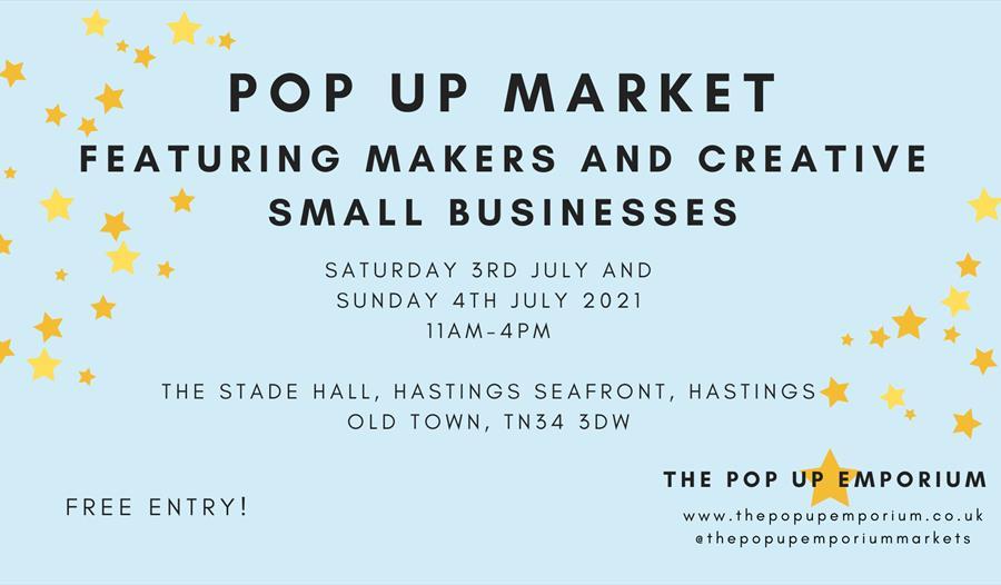 Pop up market poster