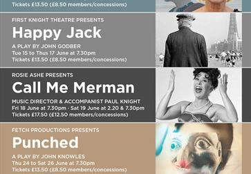 Stables Theatre June shows poster