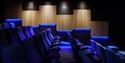 The blue room at Kino Rye cinema
