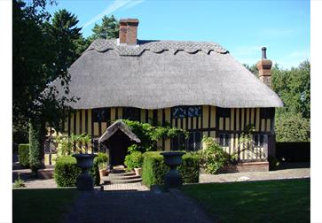 Timber framed house at Knelle Dower B&B, Northiam, East Sussex