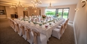 Function room at Claverton Country House Hotel in Westfield, near Battle, East Sussex