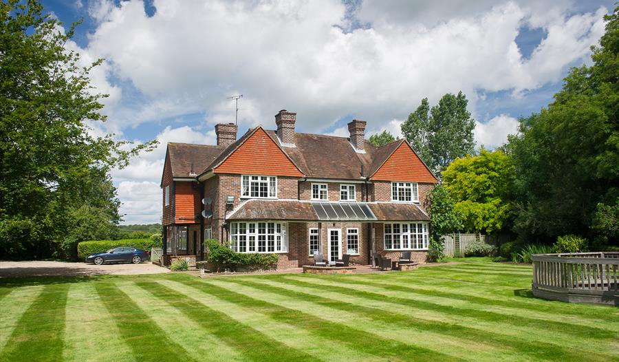 Outside view of Claverton Country House Hotel in Westfield, near Battle, East Sussex