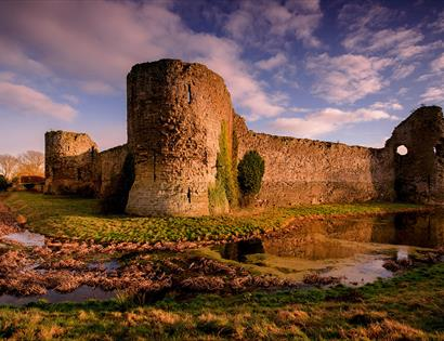 Pevensey Castle in East Sussex