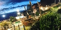 Hastings Pirate Golf course by night in East Sussex