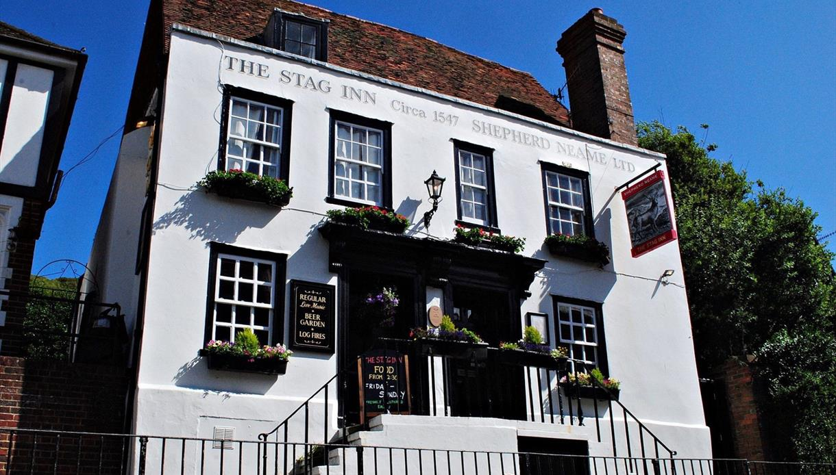 Exterior picture of The Stag Inn, in Hastings, East Sussex.