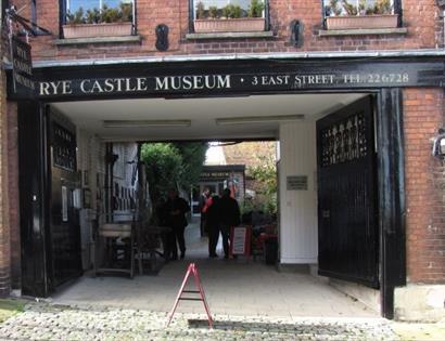 Rye Castle Museum exterior in East Sussex