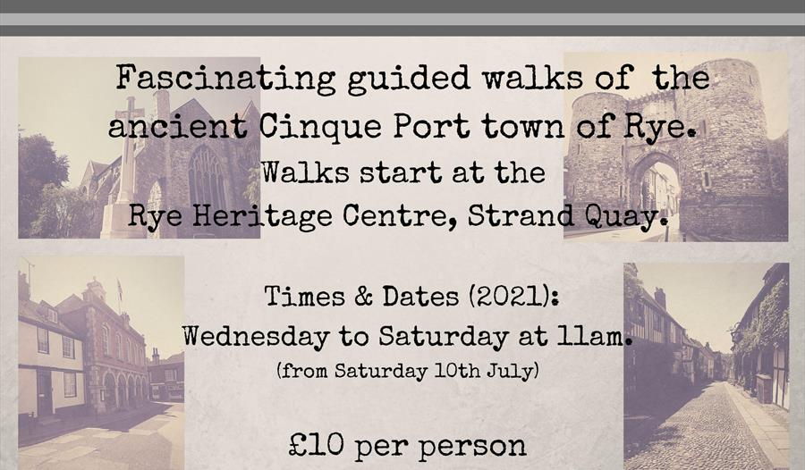 Rye historic walks poster