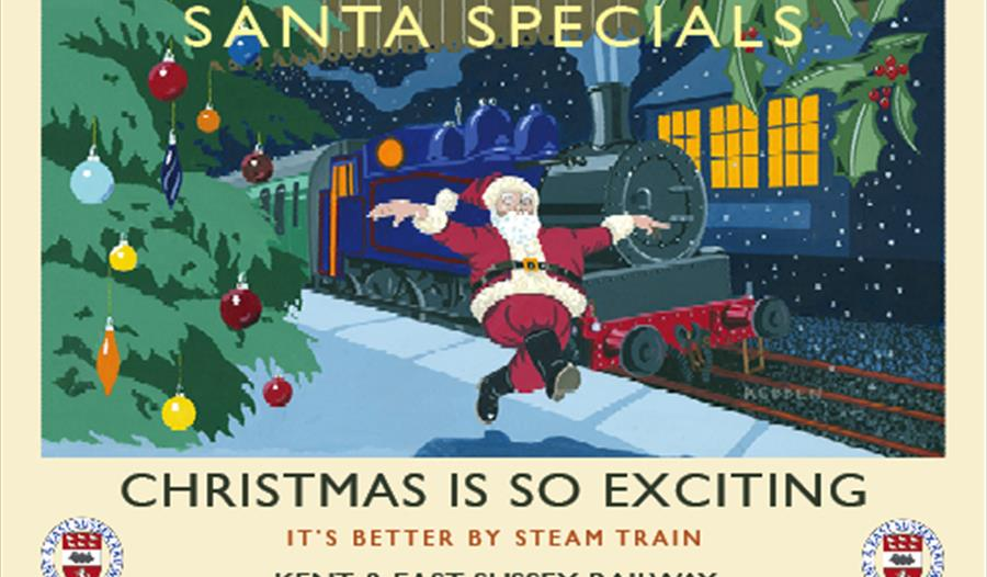Santa Specials at the Kent & East Sussex Railway