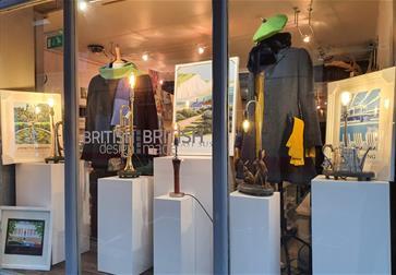British Design British Made shop window in Battle, East Sussex